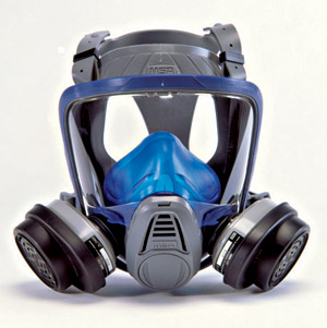 Respirator for New Orleans attic insulation cleanout